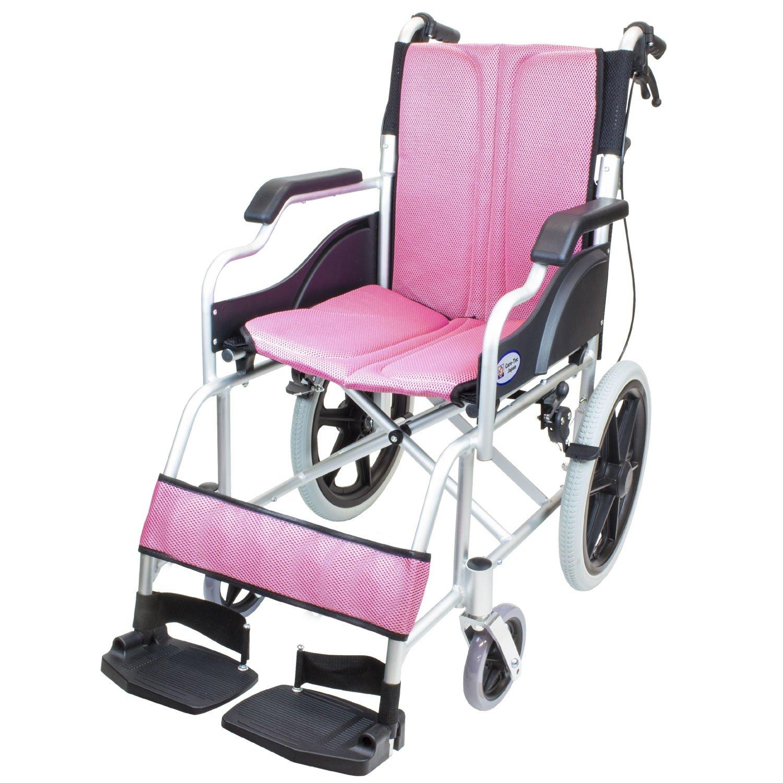 ケアテックジャパン 介助式車椅子 ハピネスコンパクト -介助式- CA-13SU (ピンク(桃色)) B077VFXHQ7 ピンク(桃色) ピンク(桃色)