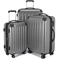 Hauptstadtkoffer Alex Set of 3 Luggages Suitcase Hardside Spinner Trolley Expandable TSA, Silver, Set