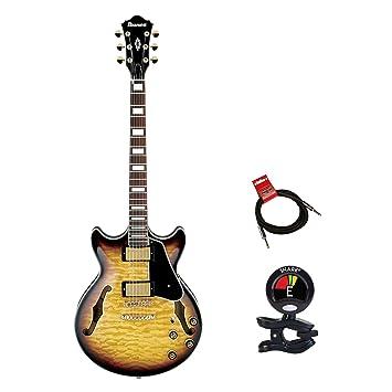 Ibanez am93ays Artcore Semi hueco en estilo expresionista guitarra eléctrica Kit de Clip con afinador de