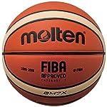 Molten X-Series Bola de Baloncesto, para Interiores y Exteriores, Aprobado por la Fiba - BGMX Anaranjado/Beige Tamaño...