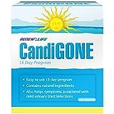 Renew Life CandiGONE, Antifungal and Antibacterial Candida Cleanse, Yeast Cleanse, UTI Symptom Relief, 15 Day Program, 1 Kit