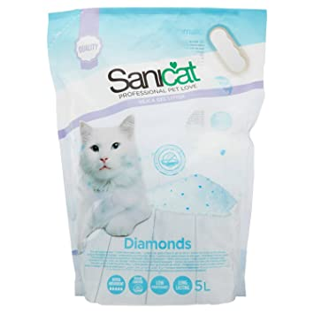 Sanicat Diamonds Arena de Gatos Ultra Absorbente de Gel de Silice - 5L: Amazon.es: Productos para mascotas