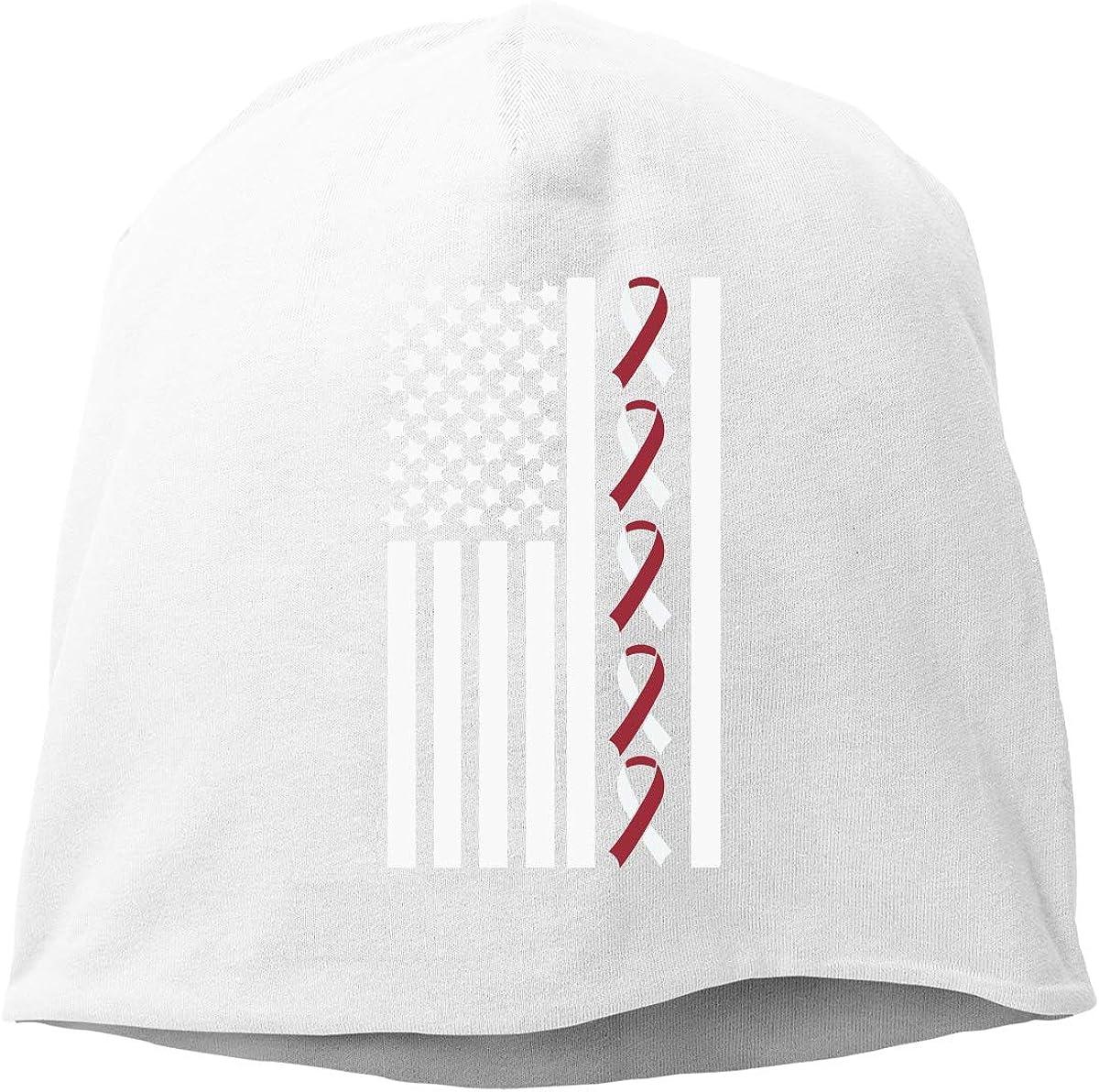 SHA45TM Ribbon Flag Bain Neck Cancer Awareness Men /& Women Winter Helmet Liner Fleece Skull Cap Beanie Hat Running Black