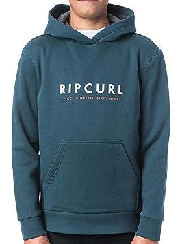 RIP CURL Basic Logo Gradian Hooded Flee Sudadera, Niños: Amazon.es: Deportes y aire libre