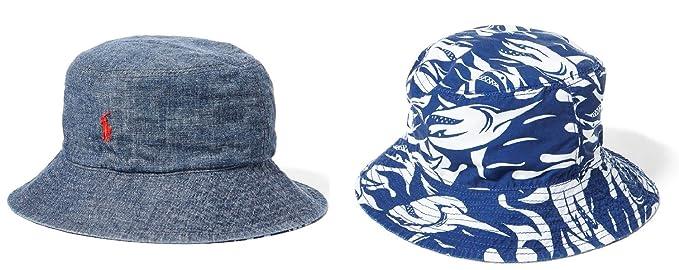 feaac6d9a40ea Amazon.com  Polo Ralph Lauren Boys Reversible Chambray Bucket Hat ...