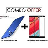 WOW Imagine Plastic 360 Degree Ultra-Slim Fit Rubberised Matte Hard Case Cover for Xiaomi Mi Redmi Y2 (Uber Blue)