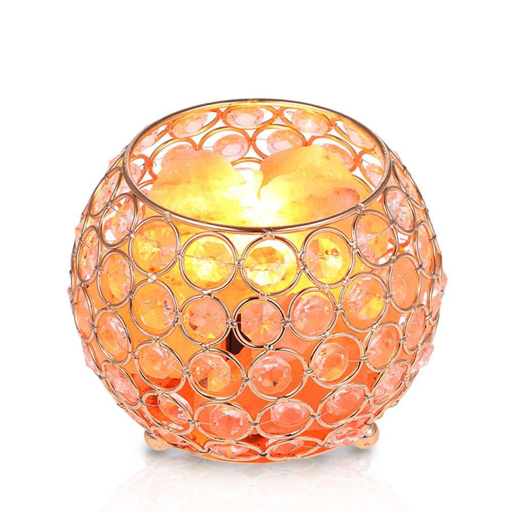 Tomshine Salzlampe Dimmbar Nachtlicht, 15W Kristall Himalaya Salzlampe,  Warmweiß Nachttischlampe Stimmungslicht Für Wohnzimmer Schlafzimmer