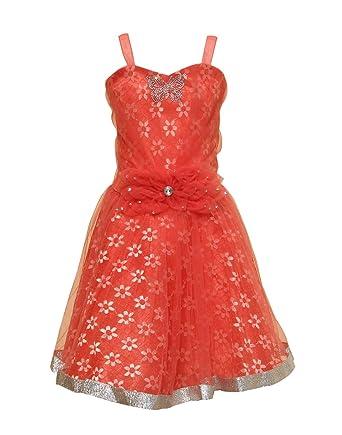 6e0fe572f Priyank Baby Girls' Dress (1039Tomato14): Amazon.in: Clothing ...