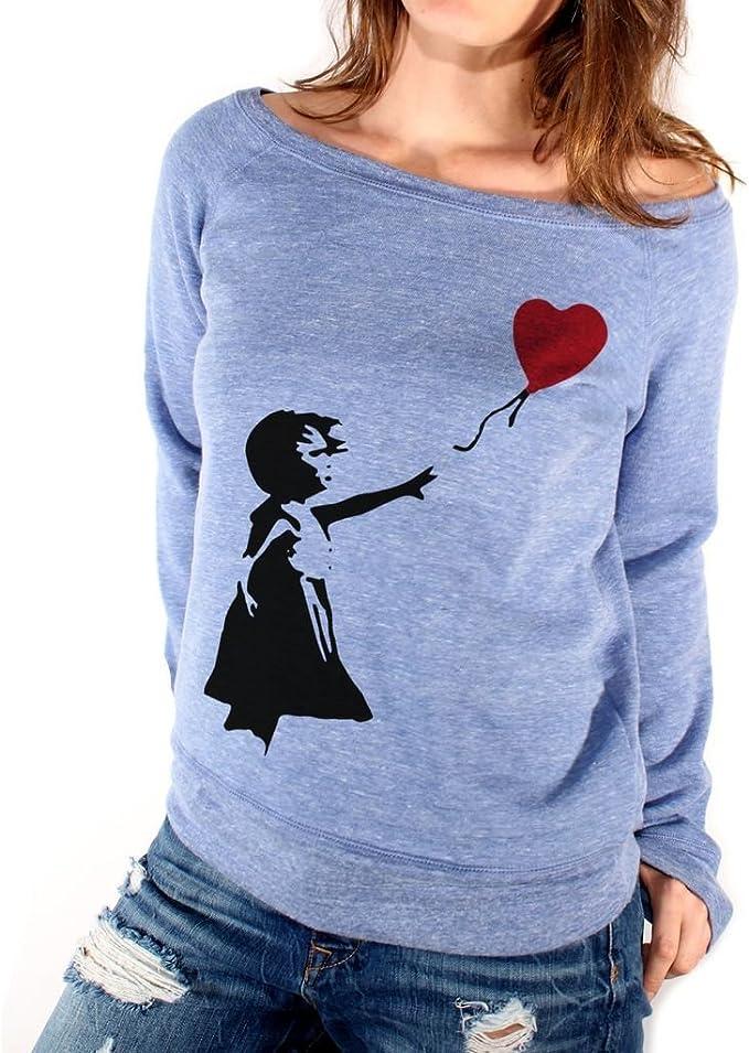 MUSH T-Shirt Banksy Cuore Palloncino Famosi by Dress Your Style