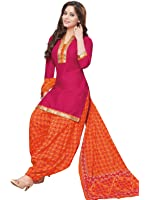 Low Price Cotton Maroon and Orange Semi Patiala Suit dress for women daily wear in free size (Pshopee presents New Collection latest low price gowns for women party wear salwar suit for women Semi Patiyala suits for women chudidar material cotton Latest Wear dresses for women party wear gowns for girls latest saree collection 2017 unstitched dress materials with cotton printed duppatta lace border top kameez for women Churidar Salwar Kameez navratri special long gowns for girls)