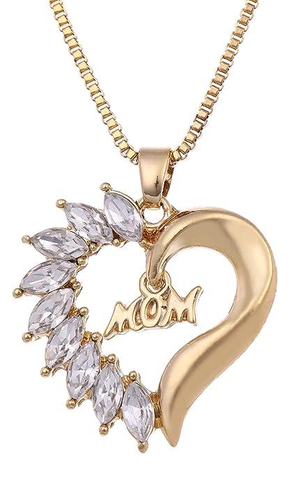Collar de Regalo de cumpleaños para Madre, diseño de corazón ...
