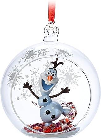 Disney Mickey and Minnie Mouse Glass Globe Sketchbook Ornament