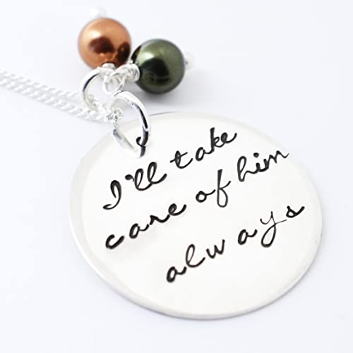 b43e10e6aa6 Amazon.com: Handmade I'll Take Care of Him/Her Always Necklace - Love it  Personalized: Handmade