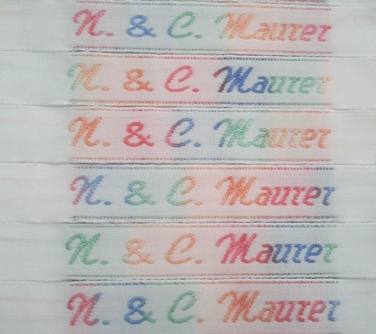 Rainbow Labels Iron on name tags// name labels in full colour