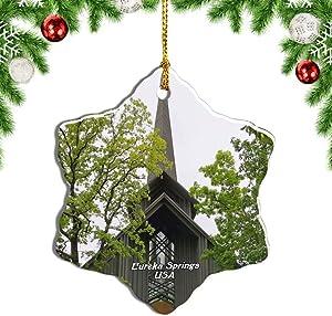Weekino USA America Eureka Springs Thorncrown Chapel Christmas Ornament Travel Souvenir Tree Hanging Pendant
