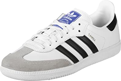 adidas Originals Samba OG J White/Black Leather 3.5 M US Big Kid
