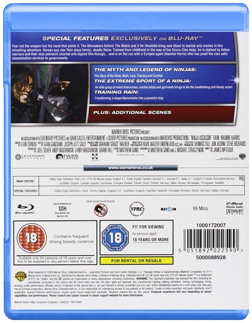 Ninja Assassin Edizione: Regno Unito Reino Unido Blu-ray ...
