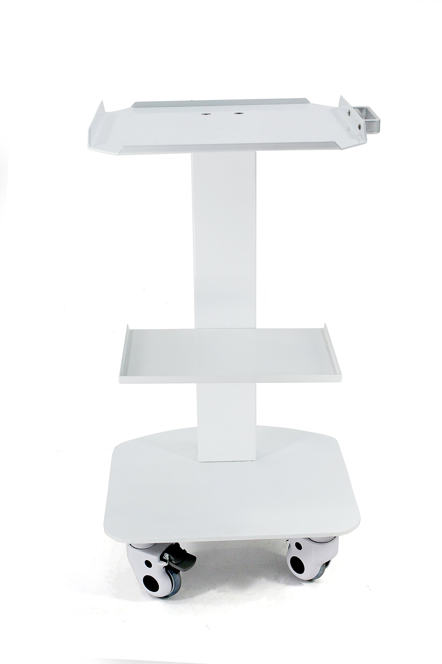 Zeta Dental Marshall 3-Shelf Metal Rolling Utility Cart White Color by Zeta