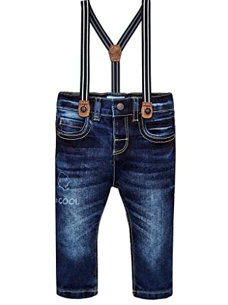 d282e96a1 Mayoral 18-02564-093 - Denim Pants with Suspenders for Baby-Boys 12