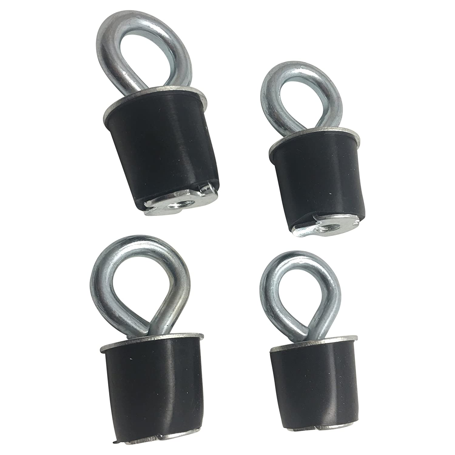 Rocket Offroad RO-Mount Black ATV and UTV Tie Down Anchor 4 Pack