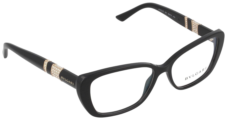 Amazon.com: Eyeglasses Bvlgari BV 4102B 501 BLACK: Clothing