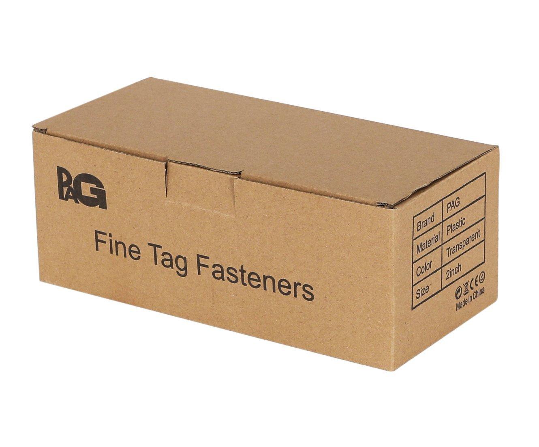 PAG 10000pcs 2'' Fine Tagging Barbs Fasteners, 100pcs/clip, Clear