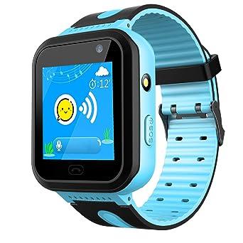 AGPS Tracker Smartwatch para Niños - SmartWatch Phone con Localizador AGPS LBS Cámara SOS Linterna Chat de Voz Juego de Relojes para Niños Niña, ...