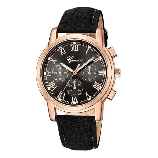 Kinlene reloj moda,CláSico De Lujo Mujer Damas Chica Unisex Reloj De Pulsera De Cuarzo De Acero Inoxidable (D): Amazon.es: Relojes