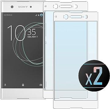 Electro-weideworld 2 Pack Sony Xperia XA1 Ultra Protector de Pantalla, 3D Pro-Fit Pantalla Completa Cristal Templado Pantalla Protectora para Sony Xperia XA1 Ultra,Bordes curvados: Amazon.es: Electrónica