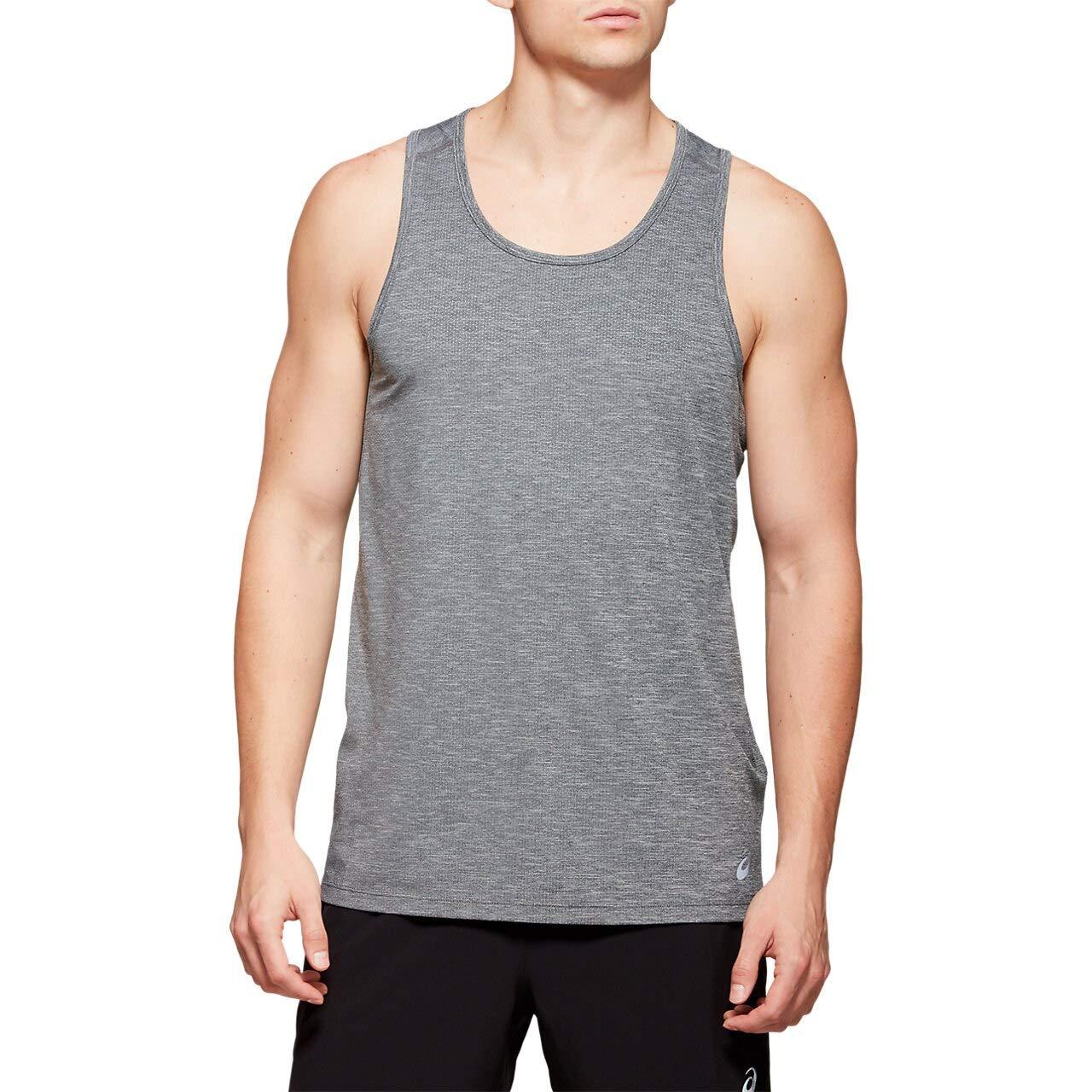 ASICS Men's Run Singlet Dark Grey/Performance Black Medium by ASICS