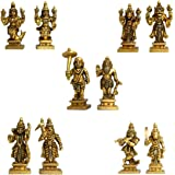 Haristore Dashavataram -Ten Incarnations/Avatars of Lord Vishnu - Brass Small Size Collection