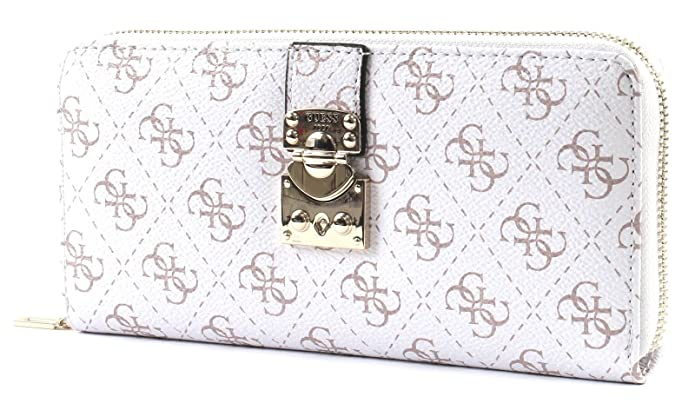 898ddc981a GUESS Joslyn SLG Large Zip Around White: Amazon.fr: Chaussures et Sacs