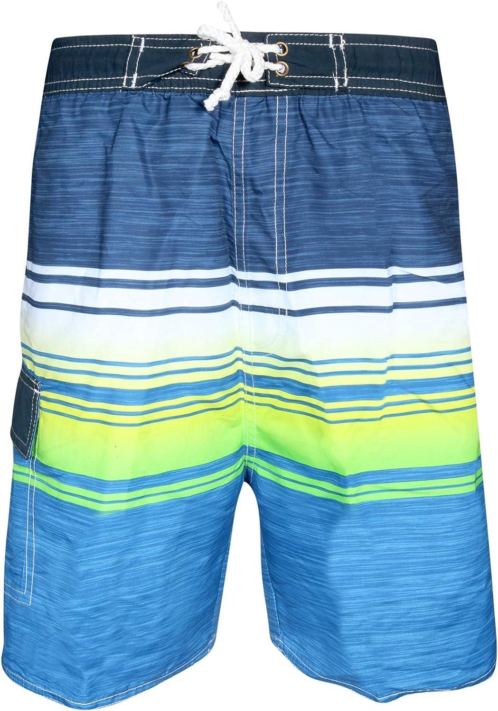 Quad Seven Boys/' Striped Swim Trunks 2 Pack