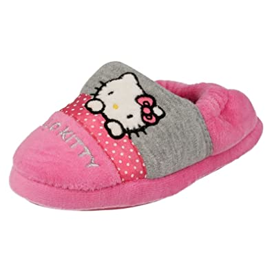 3114e5b38 Hello Kitty Girls Full Slippers Persian Pink Size 10: Amazon.co.uk ...