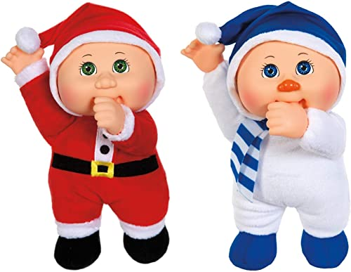 Cabbage Patch Kids Holiday Helper – 9 Nicholas Santa Douglas Snowman Set of 2 – Collectible Cuties