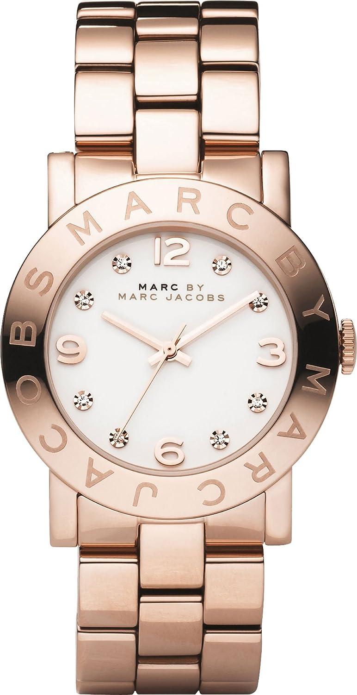 Marc Jacobs Damen-Armbanduhr Analog Quarz Edelstahl MBM3077