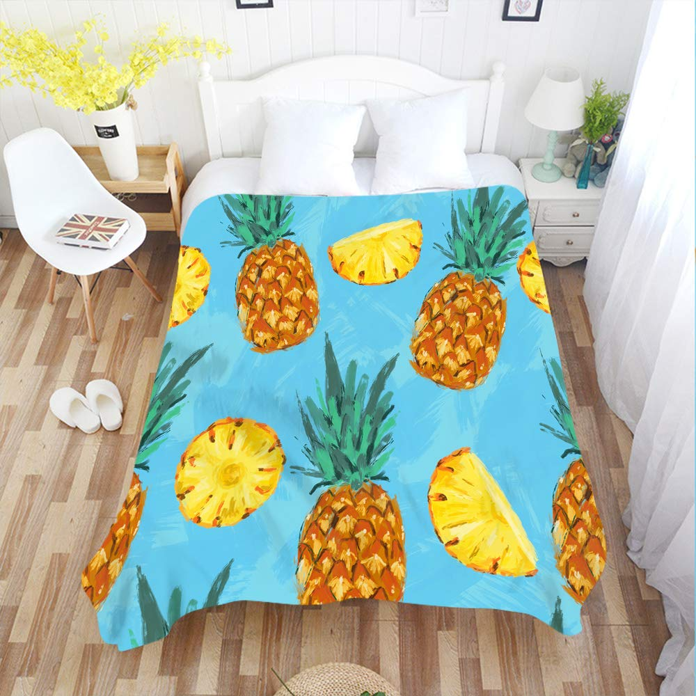 Amazon.com: Moslion - Manta de piña, diseño tropical, para ...