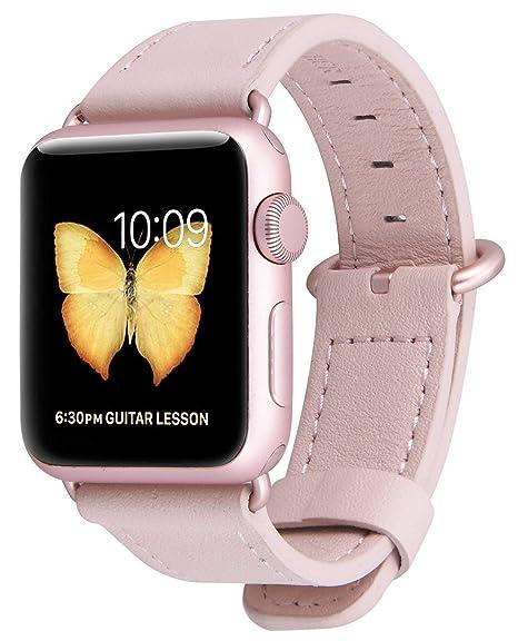 289115466f8 Pulseira De Couro Apple Watch 42mm Com Adaptadores Rose Gold  Amazon ...