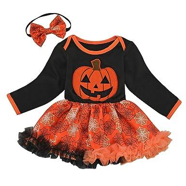 MYONA 2 Piezas Vestido de Halloween para Niñas, Disfraz Ropa de ...