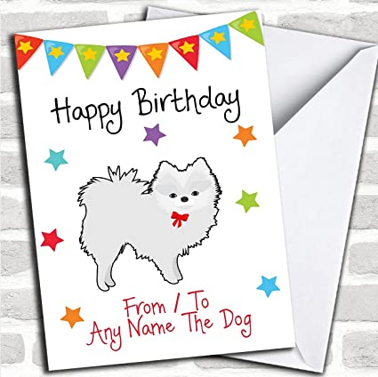 Amazon To From Pet Dog Pomeranian White Personalized Birthday