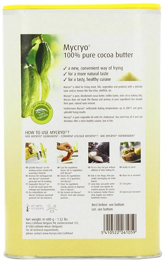 Callebaut - Polvo de Manteca de Cacao Mycryo - 600g: Amazon.es: Alimentación y bebidas