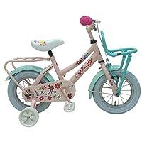 Vélo Enfants Fille 12 Pouces Yipeeh Liberty Frein Avant sur le Guidon et le Frein Arrière à Rétropédalage avec Roues de Stabilisation Rose Assemblé à 85%