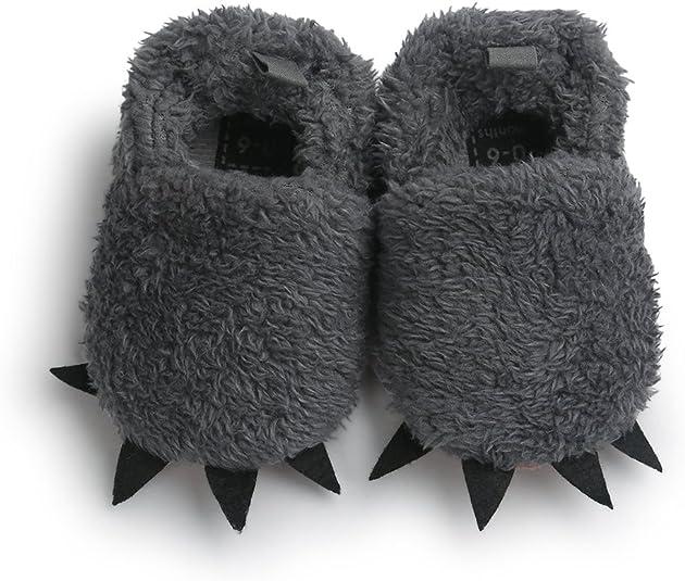 Baby Boy Girl Cute Paws Cotton-Padded Shoes Anti-Slip Flat Sneaker Neband Soft Sole Infant Prewalker