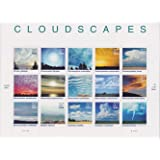 Cloudscapes, Full Pane of 15 x 37-Cent Postage Stamps, USA 2004, Scott 3878