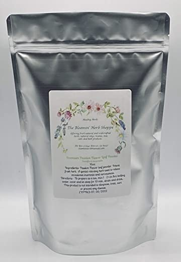 Premium Passion Flower Leaf Powder |16oz 1lb | Fresh and Potent | Passiflora incarnata | The Bloomin Herb Shoppe White Label Herbs | Bulk Relax