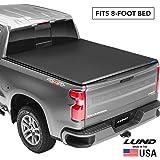 Lund Genesis Tri-Fold, Soft Folding Truck Bed Tonneau Cover   950194   Fits 2014 - 2018, 19 Legacy/Limited GMC/Chevy Sierra/Silverado 8' Bed