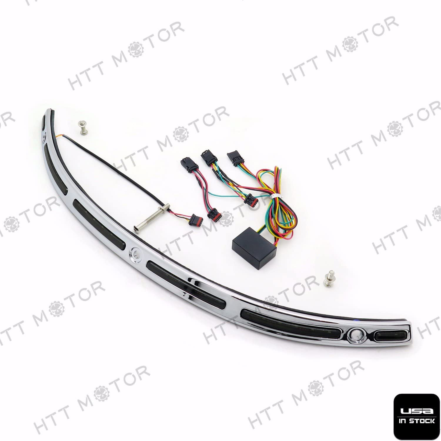 B076H13LYW XKMT-LED Illuminated Windshield Trim Compatible With Harley Touring Street Glide FLHX 14 15 16 17