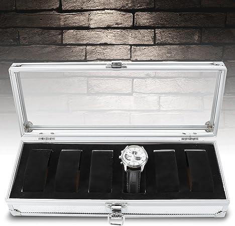Haofy Caja para Relojes, Caja de Almacenamiento de Reloj de Aluminio, 6/12 Caja (6 Cajas): Amazon.es: Hogar