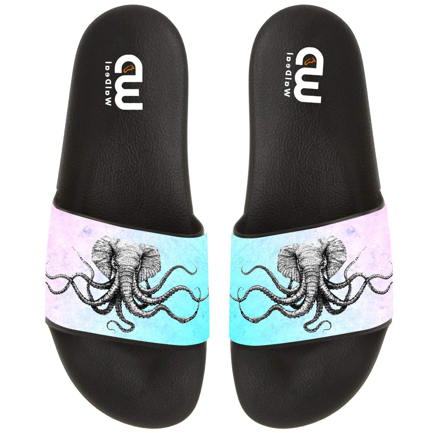 Funny Elephant Octopus Summer Slides Slippers For Boy Girl Indoor Outdoor Beach Sandal Shoes size 4