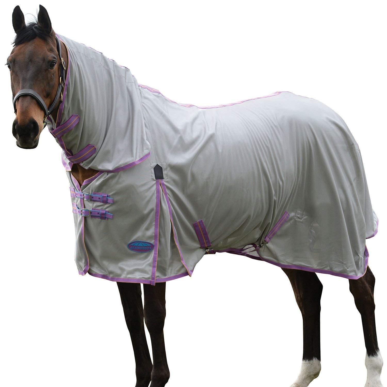 Weatherbeeta Comfitec Essential Mesh II Combo Neck, Silver/Purple/Blue, 75''